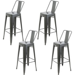 Industrial Bistro Chairs Bed Bath And Beyond Armchair Covers Hartleys Gunmetal Table 4 Bar Stools