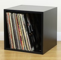 Black Square LP/Vinyl Music Record Storage Cube/Cabinet ...