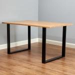 Hartleys Set Of 2 Industrial Metal Square Table Legs Dining Bench Office Desk Ebay