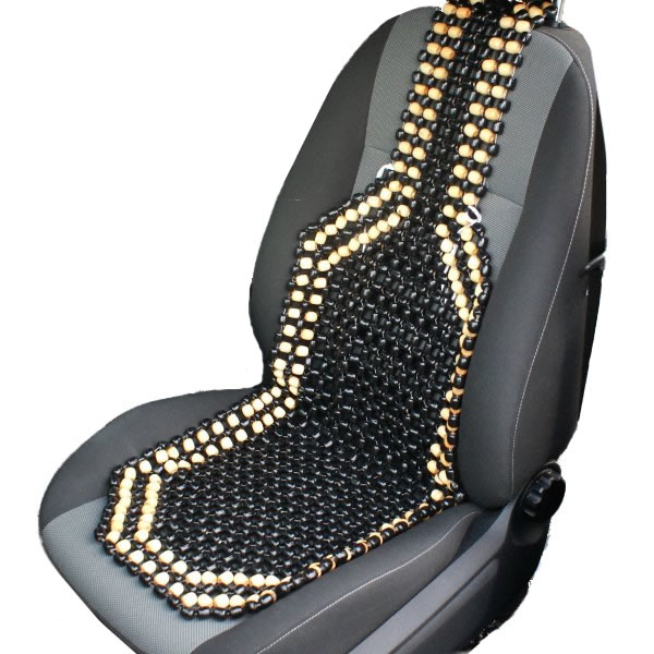 posture support seat cushion kmart bean bag chairs australia black & natural wooden bead/beaded car/taxi/van front cover/cushion 5051990677968 | ebay