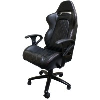 LUXURY EXECUTIVE BLACK BUCKET CAR SEAT OFFICE/DESK