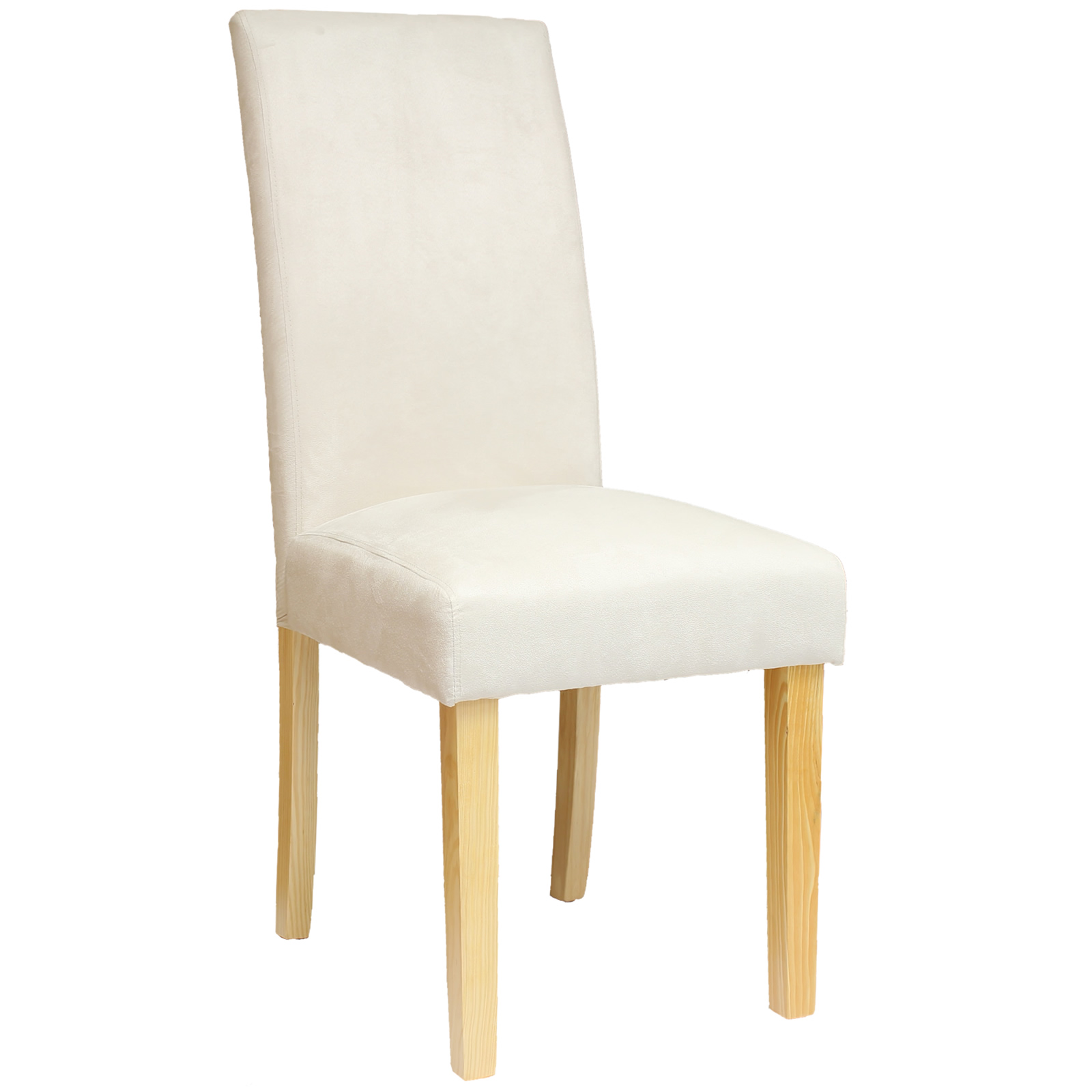 chair fabric material vanity chairs with backs 2 4 6 8 cream faux suede dining wooden oak