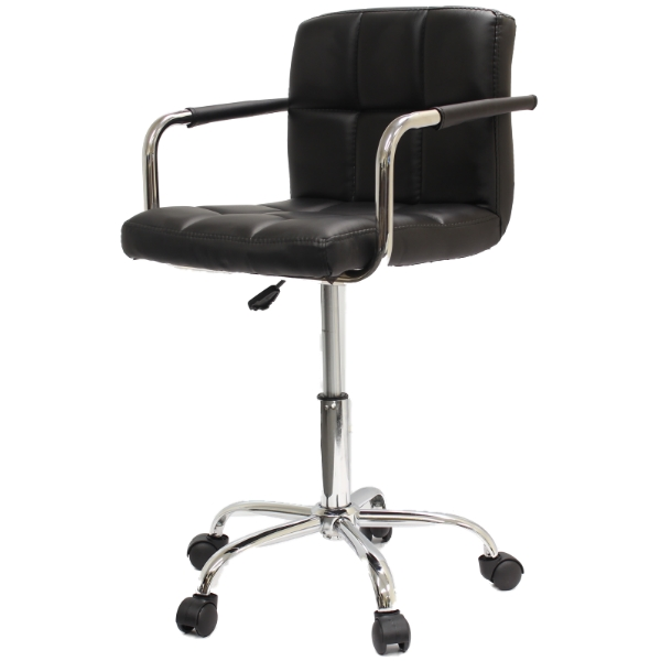 SWIVEL CHAIRSTOOL ROLLER WHEELS WITH ARMS COMPUTERSALON