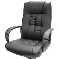 LUXURY BLACK EXECUTIVE OFFICE/COMPUTER CHAIR/SEAT LEATHER ...