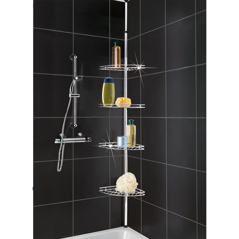 METAL CORNER SHOWER/BATHROOM BASKET CADDY/SHELF TELESCOPIC