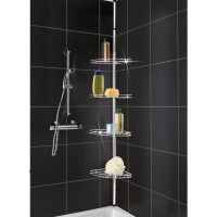 METAL CORNER SHOWER/BATHROOM BASKET CADDY/SHELF TELESCOPIC