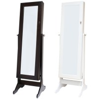 LARGE FLOOR STANDING BEDROOM MIRROR JEWELLERY BOX/CABINET ...