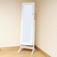 Hartleys White Full Length Floor Standing Mirror Jewellery ...