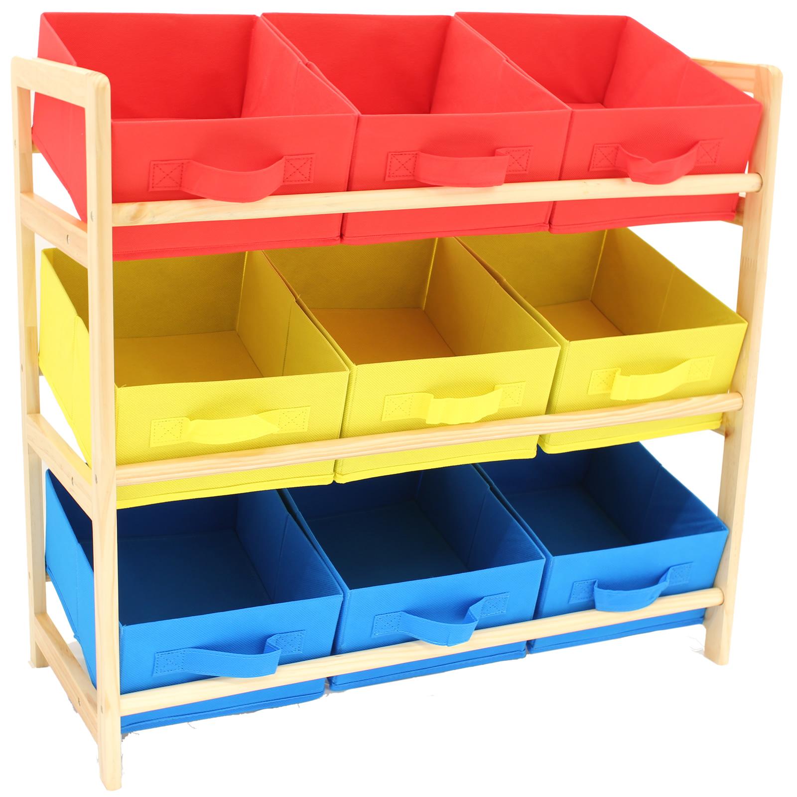 Hartleys 3 Tier Storage Shelf Unit Kids Childrens Bedroom