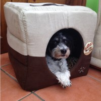 ME & MY LUXURY SUPER SOFT CAT/DOG IGLOO/BOX PET BED WARM ...
