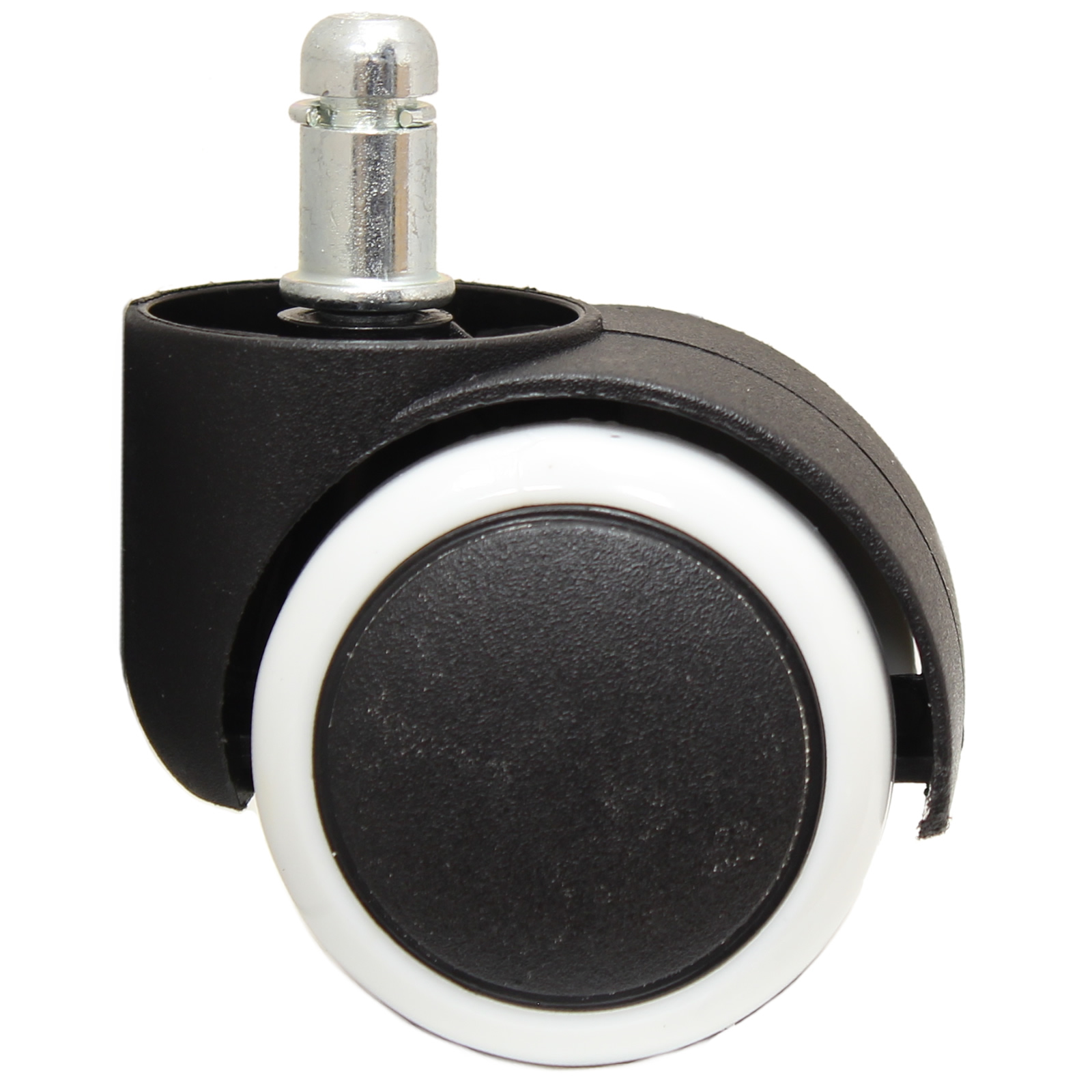 office chair casters folding leather and wood rocking 50mm double castor wheels non marking rubber
