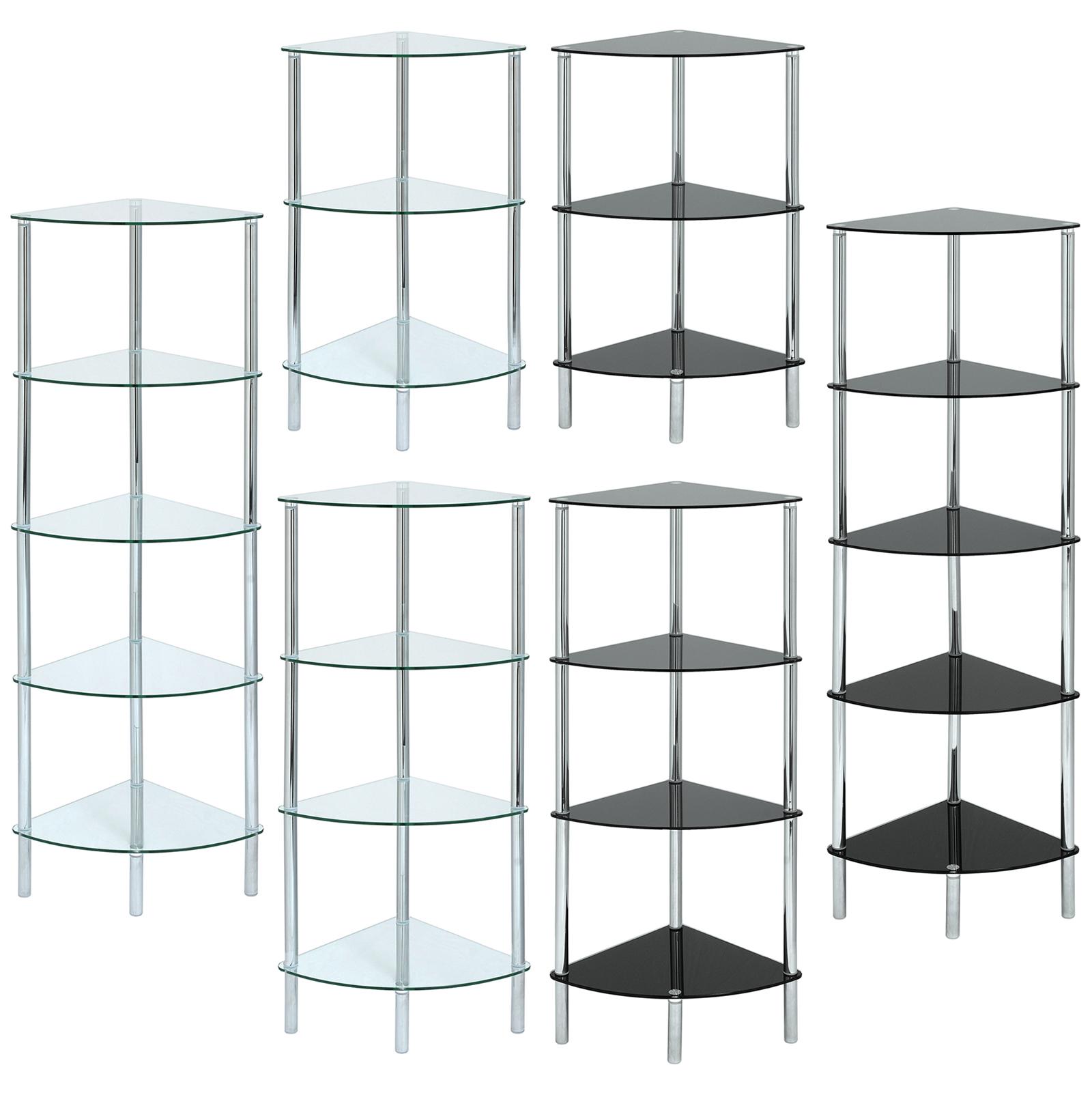 GLASS CORNER SHELF UNIT DISPLAY/BATHROOM/HALL/END/LAMP