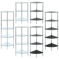 GLASS CORNER SHELF UNIT DISPLAY/BATHROOM/HALL/END/LAMP