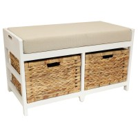 HOME/HALLWAY/BATHROOM BENCH/SEAT WITH SEAGRASS WICKER ...