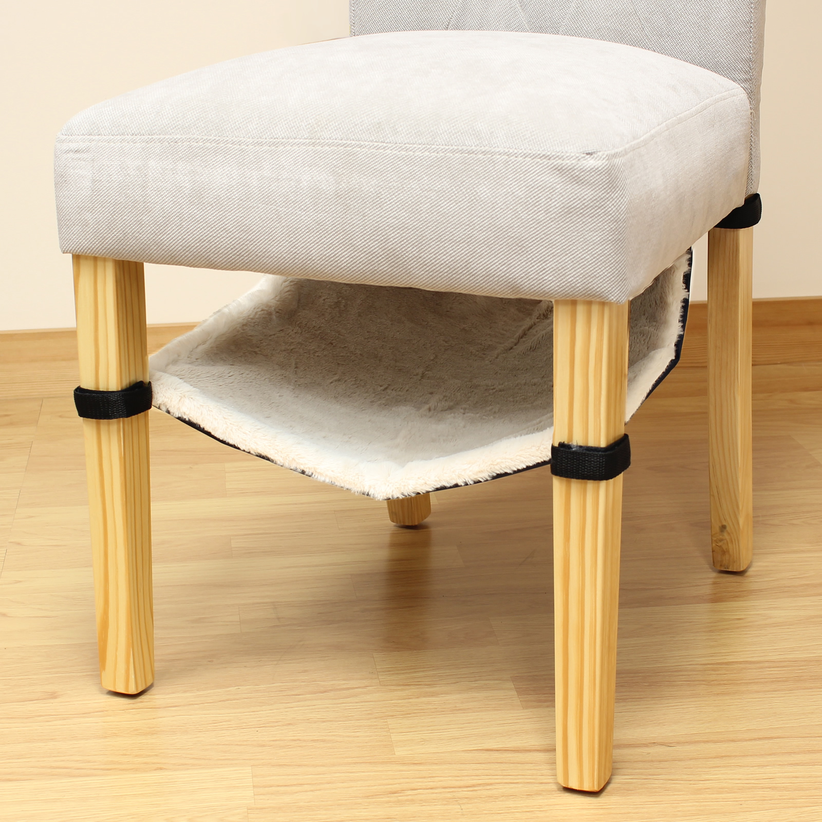cat hammock under chair fancy folding chairs dining table leg hanging kitten