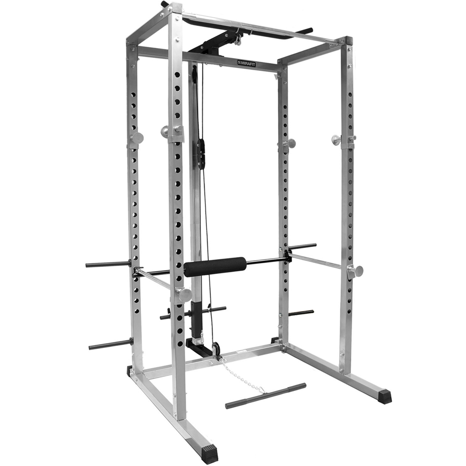 Mirafit Power Rack Squat Cage Amp Cable Lat Pull Up Down Row