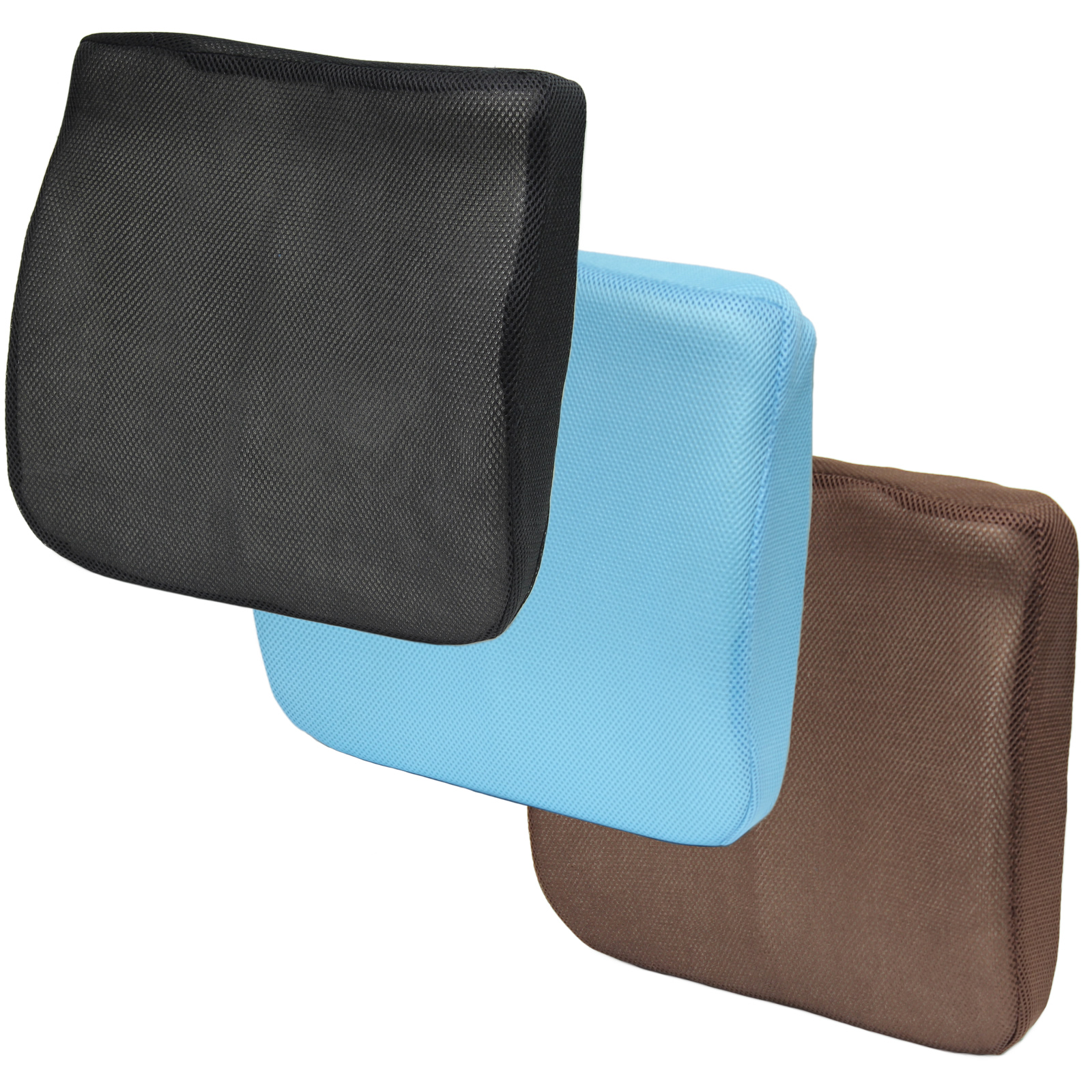 3D MESH MEMORY FOAM SEAT CUSHIONLOWER BACK LUMBAR SUPPORT