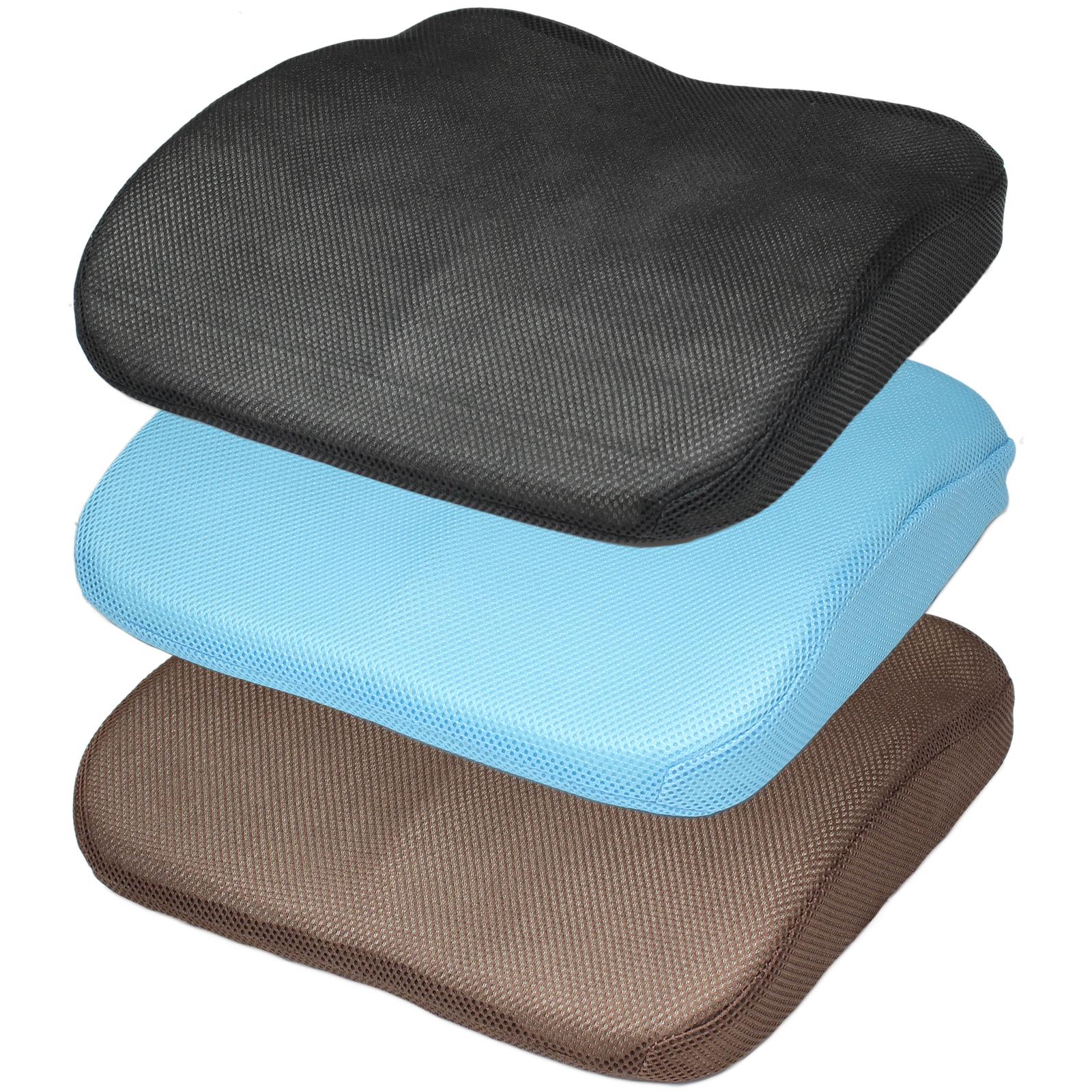 wheelchair cushion types cheap beach chair 3d mesh memory foam seat lower back lumbar support