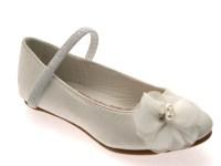 Girls Satin Wedding Bridesmaids Shoes Low Heel Party ...
