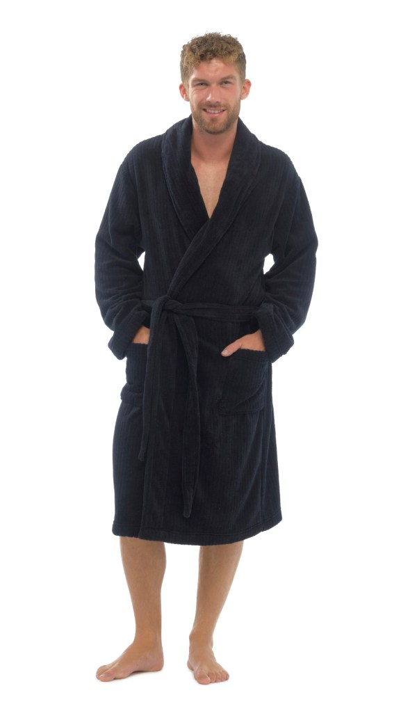 Men's Full Length Fleece Robe