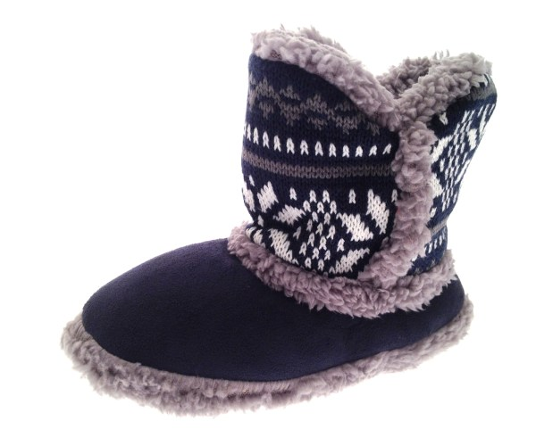 Boys Girls Kids Childrens Xmas Slippers Boots Booties