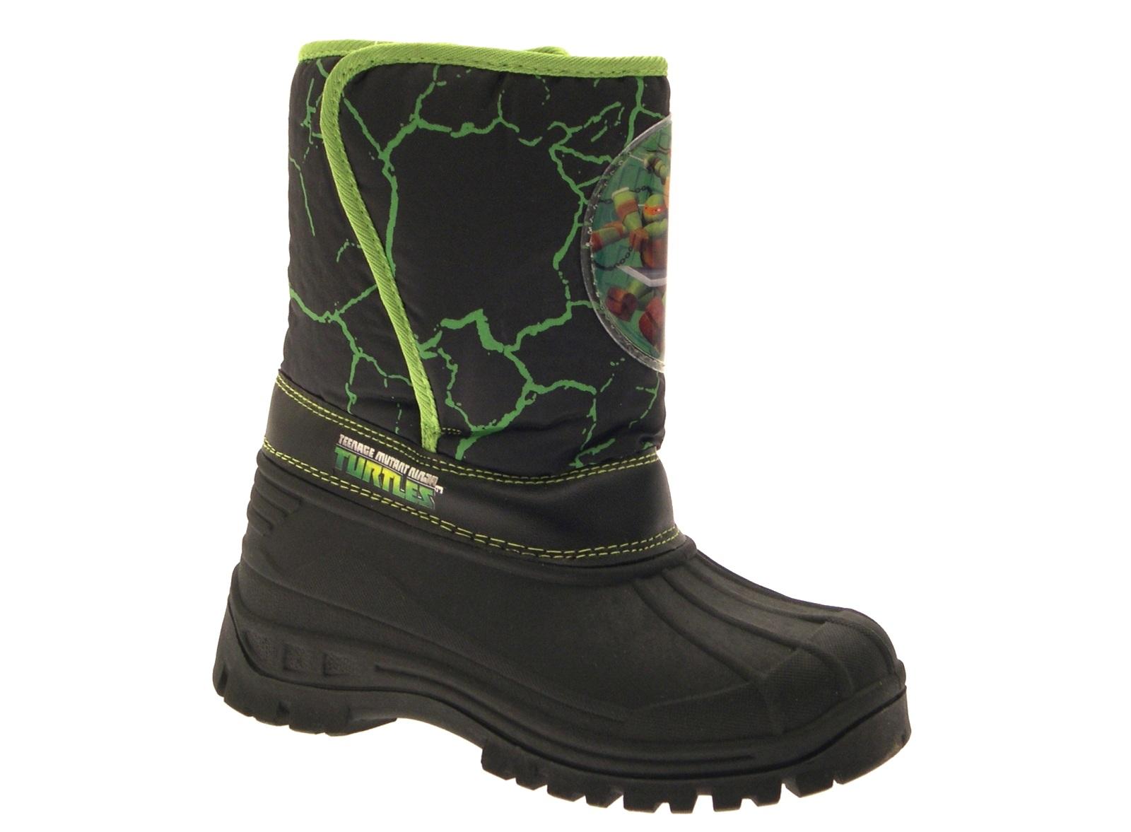 Kids Boys Girls Disney Waterproof Rain Snow Boots Tie Top