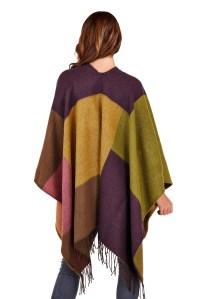 Womens Warm Winter Poncho Wrap Knitted Shawl Throw Cape ...