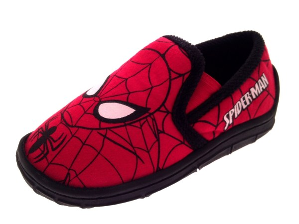 Marvel Spiderman Slippers Boys Character Booties