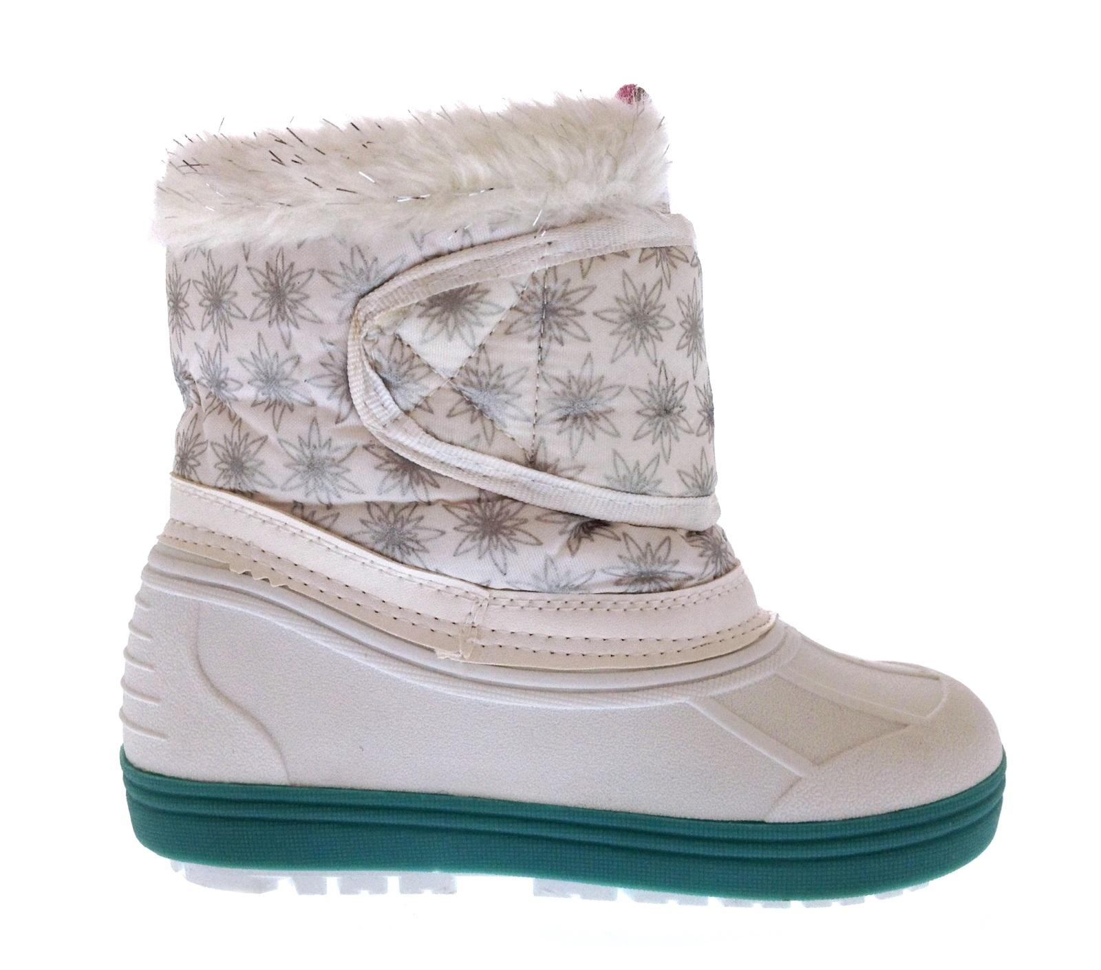 Kids Girls Disney Frozen Elsa Anna Snow Boots Waterproof