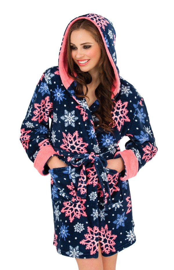 Hooded Short Robes Women