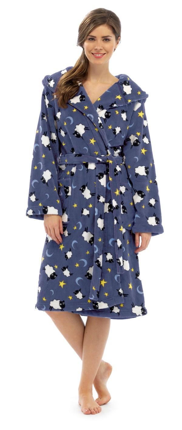 Womens Full Length Dressing Gown Bath Robe Housecoat Belt Ladies Size Uk 6-16