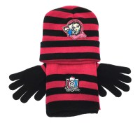 Girls Character Hat Scarf And Gloves 3 Piece Set Kids Warm ...