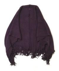 Womens Knitted Shawl Throw Cape Tassels Scarf Coat Wrap ...