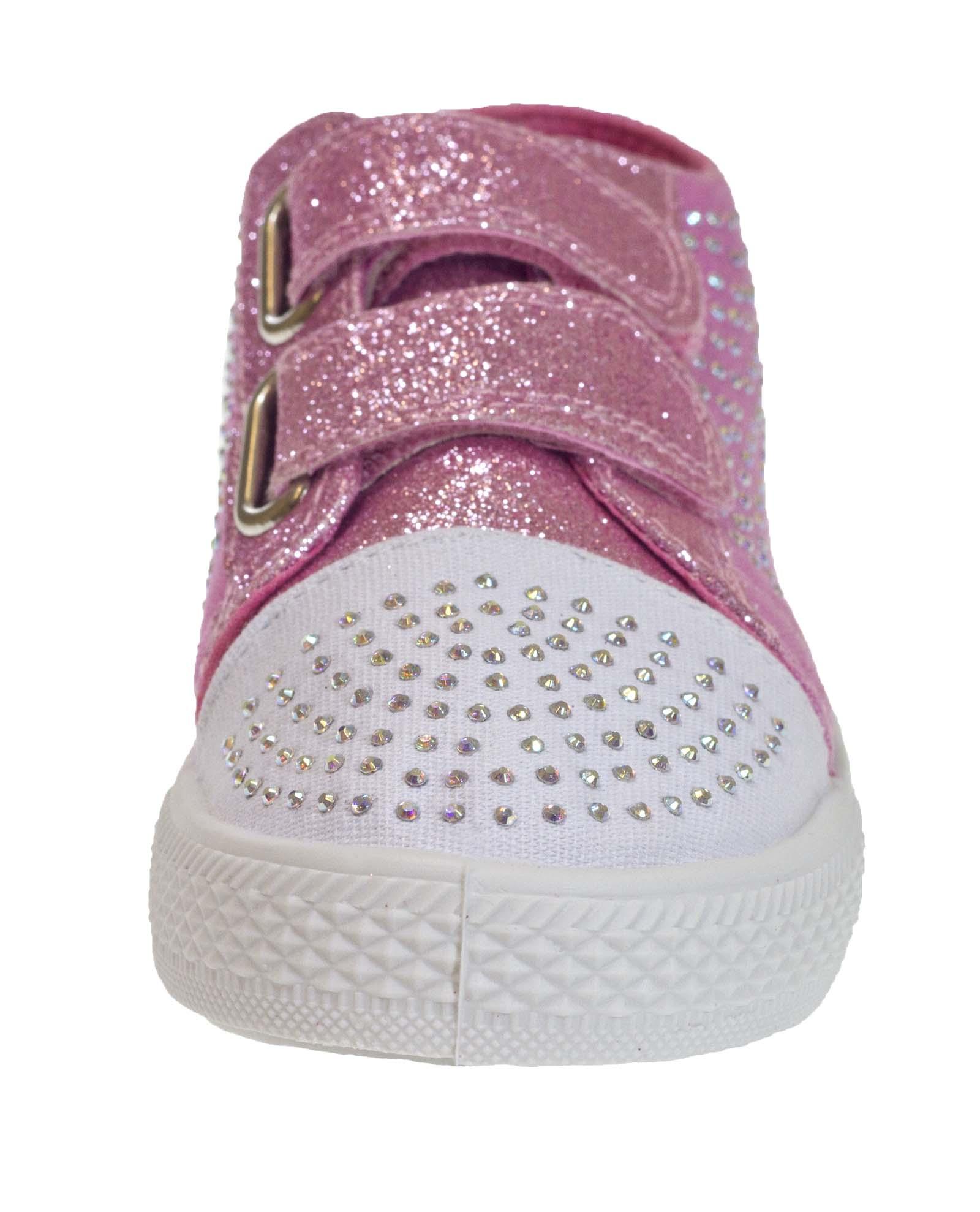 Kids Girls Glitter Pumps Sequin Shoes Canvas Pumps Skate