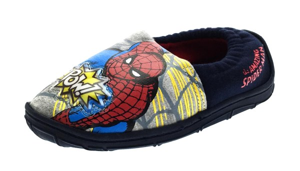 Boys Marvel Spiderman Light Slippers Slip Mules