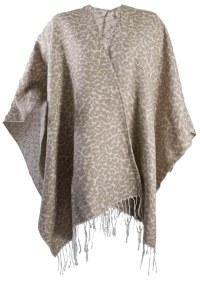 Womens Warm Winter Shawl Poncho Wrap Knitted Cape Scarf ...