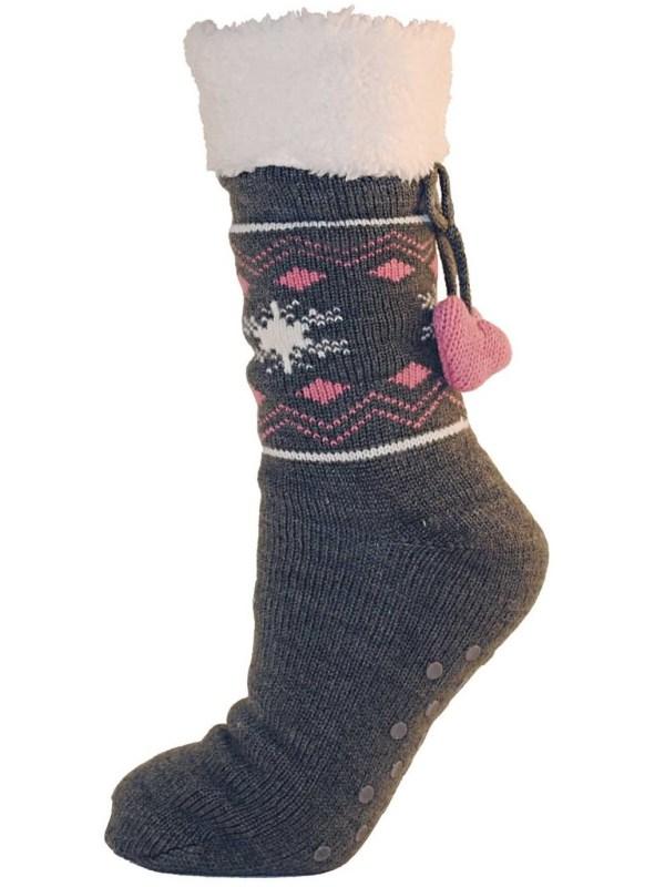 Women's Fur Lined Slipper Socks