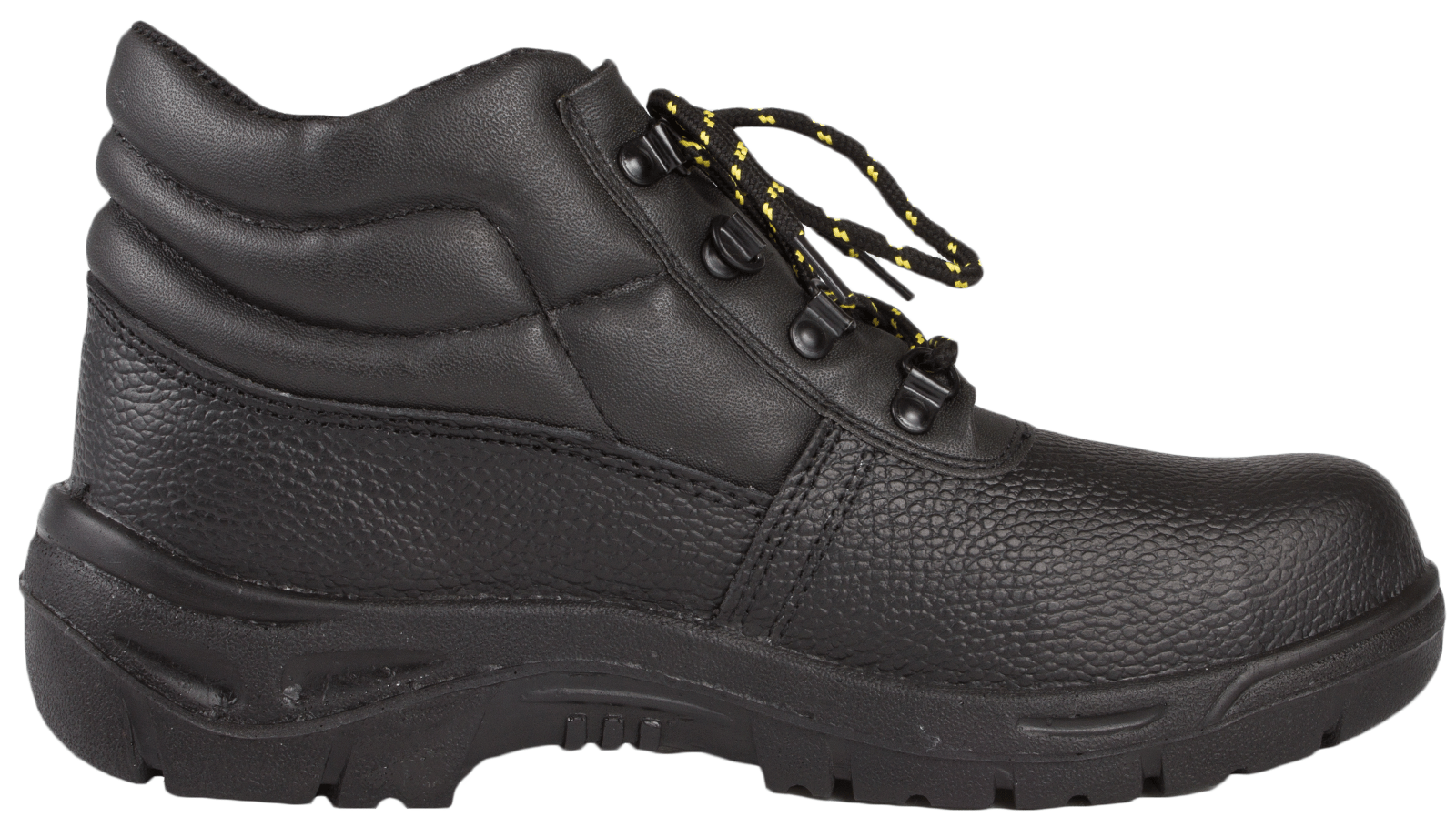Mens Steel Toe Cap Safety Black Leather Ankle Boots Non