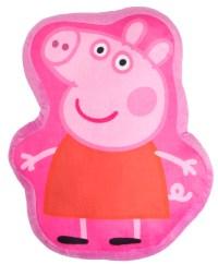 Girls Peppa Pig Novelty Shaped Cushion Childrens Soft ...