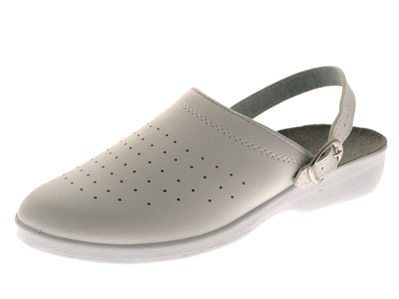 shoes for work in the kitchen home depot appliance packages womens white full toe hospital clogs ladies