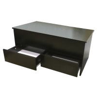 Coffee Table with Storage + 2 Drawers Ottoman Toy Box ...