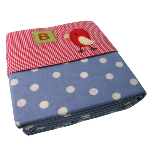 Cocalo Sheet Baby Bed Crib Patterned Alphabet Soup Bird 70x140 Flat Bedding - Mixed