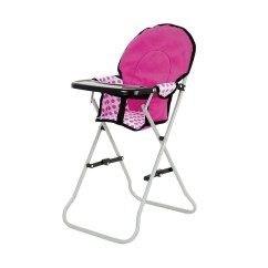 Pink High Chairs Retro Dining Room Table And Toyrific Snuggles Collapsible Dolls Play Time