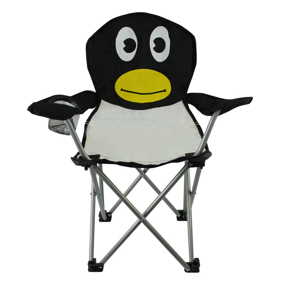 compact camping chair wedding covers canada kids folding garden animal beach childrens portable seat penguin chairs/ loungers ...