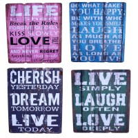 Hanging Wall Art Decorative Wooden Signs Rustic Vintage ...