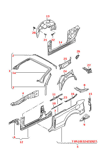 AUDI A4/S4 RIGHT FILLER PLATE FOR 2003-2006 MODELS PLEASE