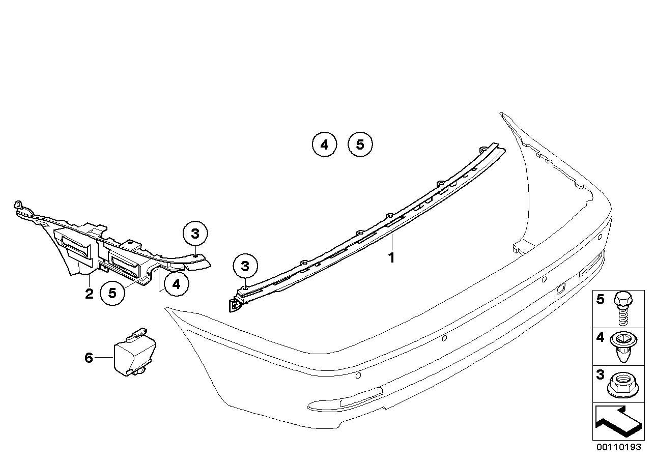 NEW BMW E46 COUPE CONVERTIBLE REAR BUMPER CENTRE GUIDE
