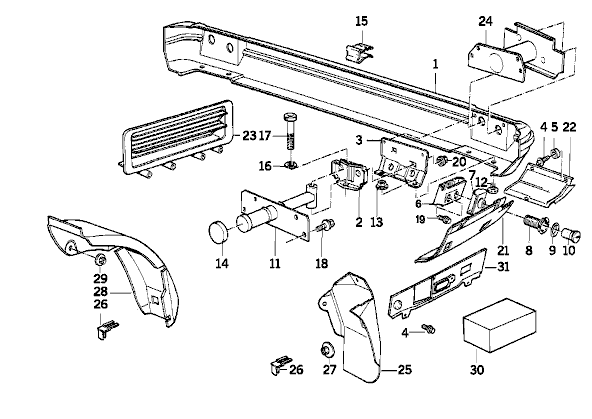 W210 Bumper Diagram, W210, Free Engine Image For User