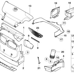 E46 M3 Seat Wiring Diagram 2002 Chevy Silverado 1500 Stereo Bmw 3 Series Front Right Air Duct S54 51712695702 Ebay