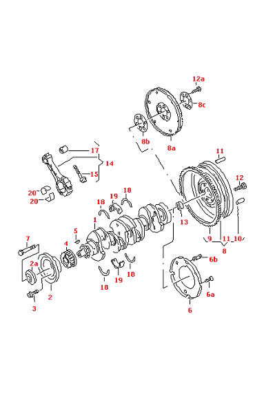 VW POLO 1995-2002 V-BELT PULLEY 1.9 LTR DIESEL ENGINE AEF